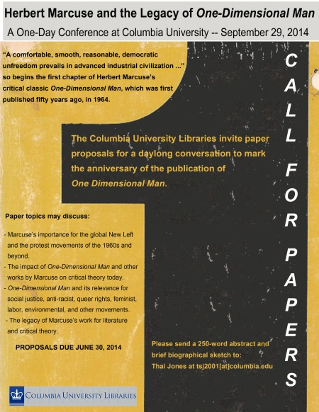COLUMBIA UNIVERSITY 2014 Marcuse Conference Call For Papers
