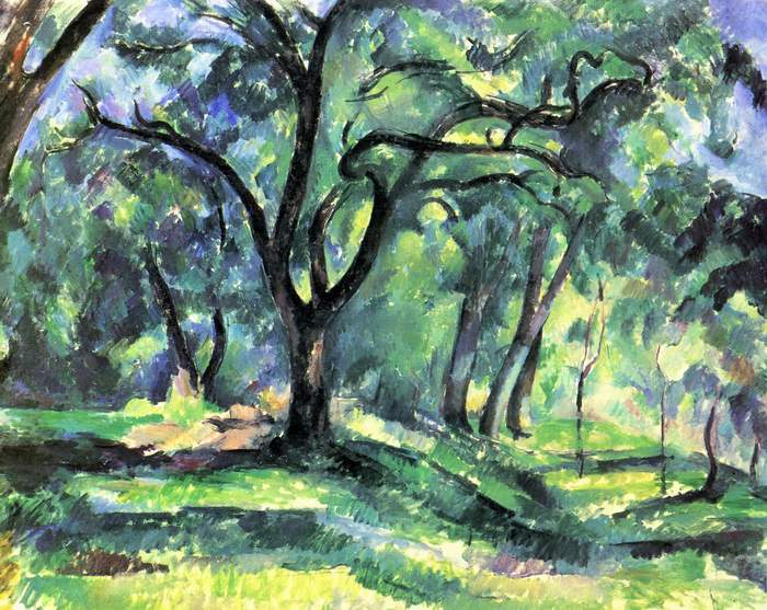 "Paul Cezanne, ""In the Woods"""