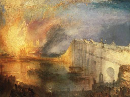 The Burning of the House of Lords and Commons, 16th October 1834 exhibited 1835 Joseph Mallord William Turner 1775-1851 Philadelphia Museum of Art: The John Howard McFadden Collection, 1928 http://www.tate.org.uk/art/work/TW1258