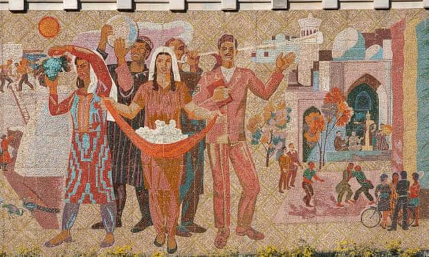 central asian harvest mural